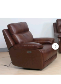 genuine leather electric recliner armchair with usb charging port