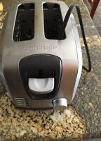 Stainless 2 slice toaster black and decker