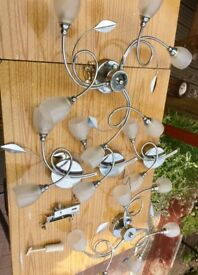 Ceiling and wall lights £30