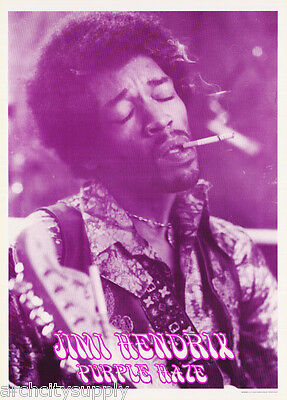 POSTER :MUSIC : JIMI HENDRIX - PURPLE HAZE - FREE SHIPPING !   #LP0274    LC18 i