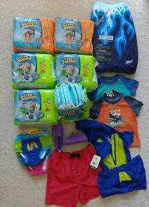 Swimming swimpants, diapers, shoes, pants, shirts...