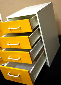 Brilliant 4 Drawer Fun Styled !!! Side Tables SEE VIDEO