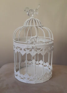 Rustic Wedding Decorations- flower bouquets, bird cage, displays