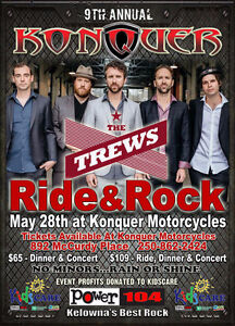 Konquer Motorcycles Rock & Ride,Dinner,Concert Tickets