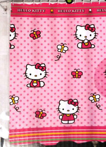 Hello Kitty Shower Curtain and Bath Mat - new!