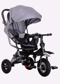Kids babies 5 in 1 trike tricycle bike pushchair foldable