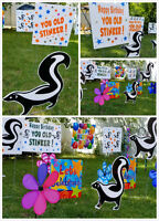Birthday Sign Rentals in Regina by Sign Design The Sign Chick!