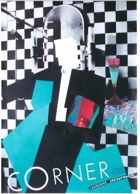 Original vintage poster CORNER MEN'S FASHION STORE 1989