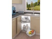 Nuvola corner kitchen magic pull out unit storage solution from wickes (BNIB)