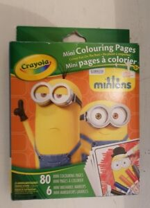 Crayola mini Colouring pages Minions