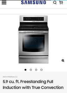 Samsung Induction Range with True Convection Oven
