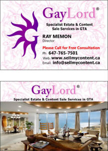 GAYLORD® Content & Estate Sales Toronto /