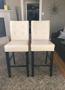 Two kitchen island chairs