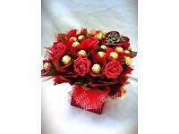 Chocolate bouquet. Valentines gift.birthday anniversary.