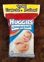 NEW 8 Huggies Disposable Changing Pads  $2.00