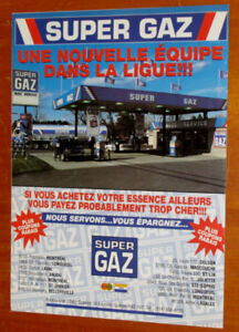 ANONCE RETRO 1992 STATION ESSENCE SUPER GAZ - OLD GAS AD