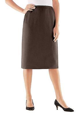 Stehmann Straight Knee Length Skirt Mocha Size UK 12P DH084 KK 10