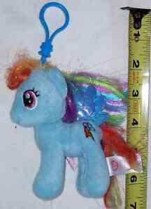 Plush MLP My Little Pony Rainbow Dash on Clip by TY London Ontario image 1