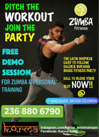 Zumba and Ace certified personal fitness trainer 30$ Free demo