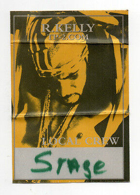 R Kelly 2001 TP2 Tour Local Crew Satin Backstage Pass