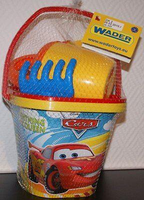 Wader Sandspielzeug Eimerset Eimergarnitur Cars 5-teilig für Sandkasten NEU