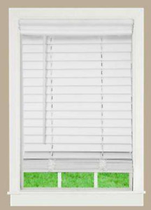 Faux Wood Blind - White