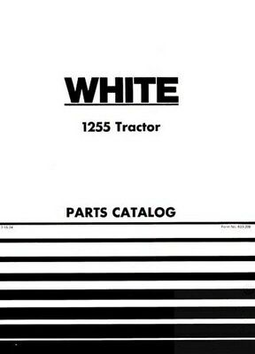 White Oliver Minneapolis Moline Cockshutt 1255 Tractor Parts Catalog Book Manual