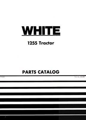 White Oliver Minneapolis Moline Cockshutt 1255 Tractor Parts Catalog Book Manual