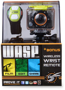 NEUF Caméra Sport WASP Full HD+Remote+13 Accessoires Comme GoPro