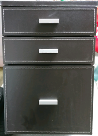 3 DRAWER Faux Leather FILLING CABINET perfect for HOME or OFFICE use