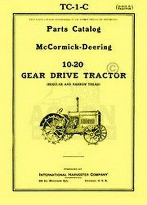 Mccormick Deering 10 20 | Owner's Guide to Business and