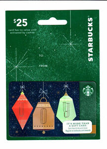 2014 STARBUCKS HANGER CARD - CHRISTMAS ORMANENT #6113