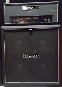 hiwatt dr- 201 with 4x12 cab (fane speakers)     mint condition