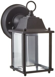 "Trans Globe Lighting 40455 BK 8"" 1-Light Outdoor Wall Lantern"