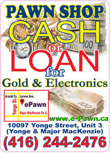 ePawn - PAWN SHOP - HOCK SHOP - Top CA$H for your JEWELRY