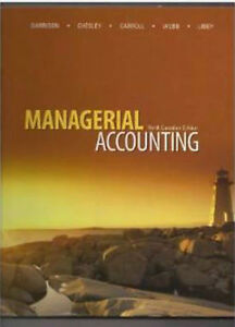 Managerial Accounting, 9th edition, Garrison et al.  Hardcover