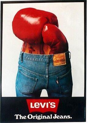 Original vintage poster LEVI'S JEANS FASHION BOXING c.1970