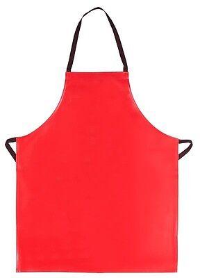 Vinyl Apron Heavy Duty Dishwasher Butcher Craft Restaurant Bib Usa Red New