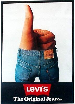 Original vintage poster LEVI'S JEANS FASHION LADIES c.1970