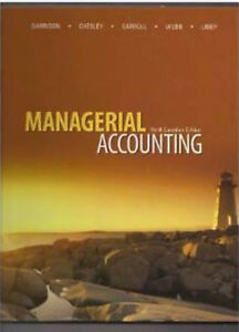Managerial Accounting Ninth edition Garrison et al. Hardcover