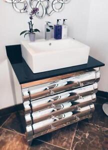 BATHROOM VANITY / CABINET - SOLID WOOD, COUNTER, FAUCET, BATHTUB - FLOOR MODELS - SHOWROOM SALE - WE DESIGN BATHROOMS :)