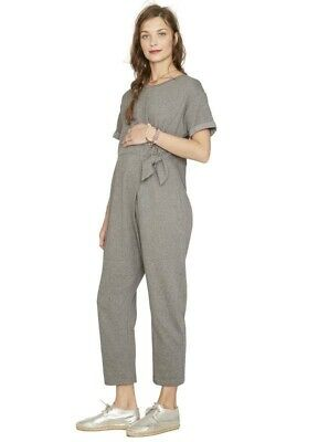 Hatch Maternity Women's THE LOLO JUMPER Grey Cotton Blend Size 1 (S/4-6) NEW
