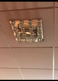 Ice cube ceiling lights