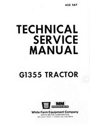 Minneapolis Moline G1355 G 1355 Tractor Service Manual