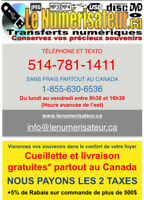 Transfert Numérique VHS,VIDÉO,DIAPO,AUDIO, etc. sur DVD-USB-DDE
