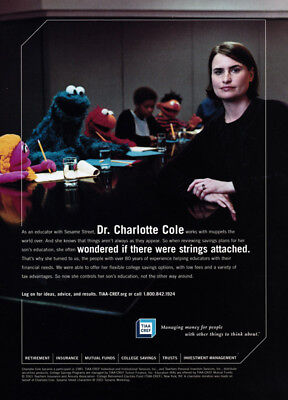Dr  Charlotte Cole  Muppets Print Ad 2001 For Tiaa Cref