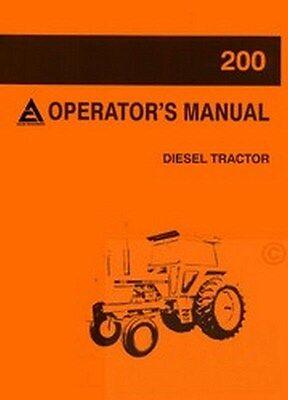 Allis Chalmers 200 Diesel Tractor Owners Operators Manual Ac