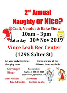 2nd Annual Naughty or Nice? Craft, Vendor & Bake Show