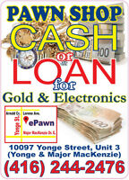 Top CASH or LOANS for your Jewelry or Electronics