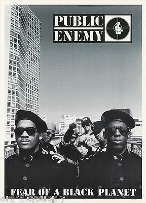 POSTER :MUSIC :RAP: PUBLIC ENEMY - FEAR OF A BLACK PLANET - FREE SHIP  LW11 i